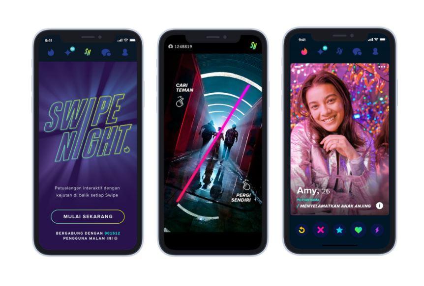 Tinder Luncurkan Swipe Night Video Interaktif di Indonesia