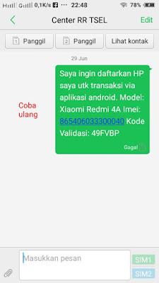 gagal kirim validasi aplikasi android