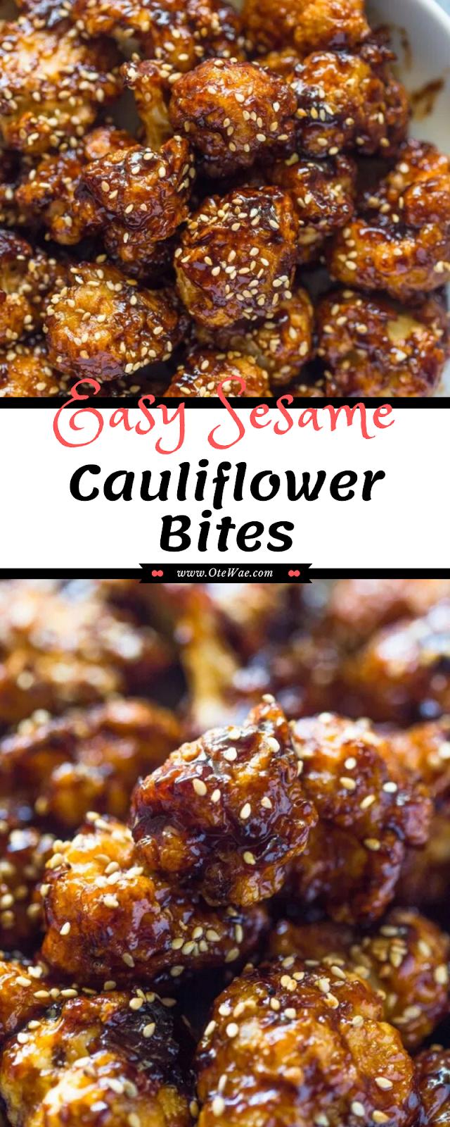 Easy Sesame Cauliflower Bites