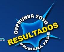 Resultados I Fase Ceprunsa 2016