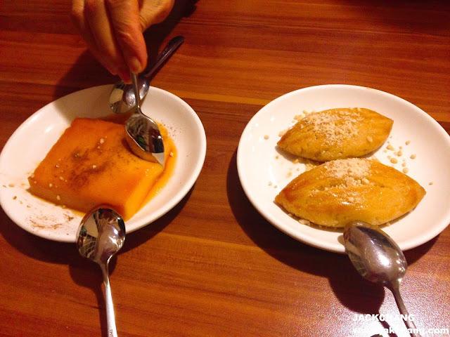 卡士達磚、糖漬甜餅