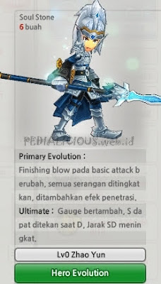 Zhao Yun Evolution Lost Saga Indonesia