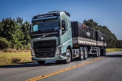 Volvo assume liderança de caminhões pesados em julho