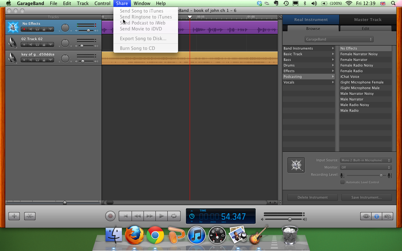 Garageband Fade In Exporting The Highest Quality Sound Files From Garageband How To