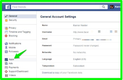how to remove app on facebook timeline