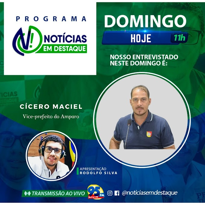 Vice-prefeito Cícero Maciel participou de programa de Rádio e fez um balanço das ações administrativas dos 100 dias de gestão