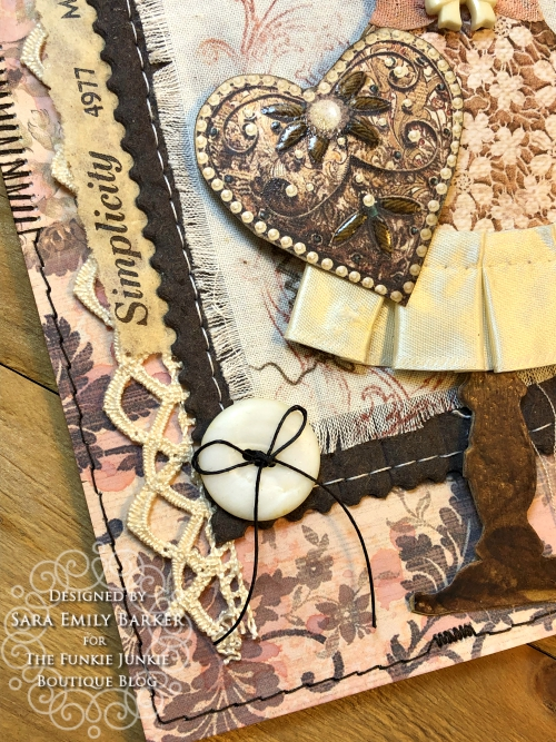 Sara Emily Barker https://sarascloset1.blogspot.com/2020/04/beauty-in-simplicity.html Sewing Themed Card Stamperia Old Lace Tim Holtz Stitches Tiny Text 3