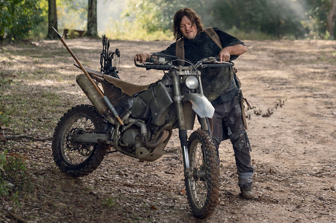 Daryl Dixon with his new Zombie Survival KTM 525 EXC Bugout Bike
