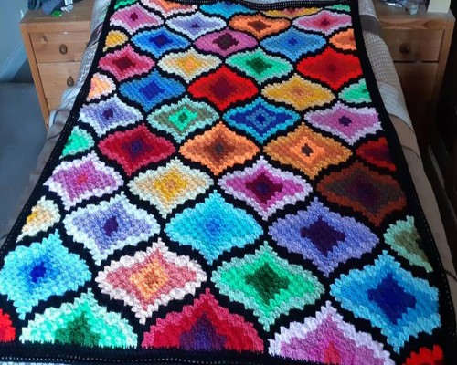 Beautiful C2C Scrapghan by Jo Watson - Free Graph