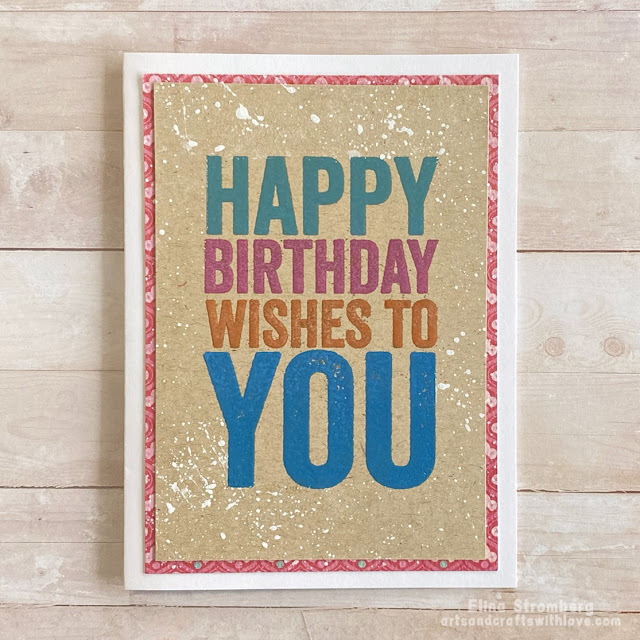 Cardmaking: Happy Birthday!
