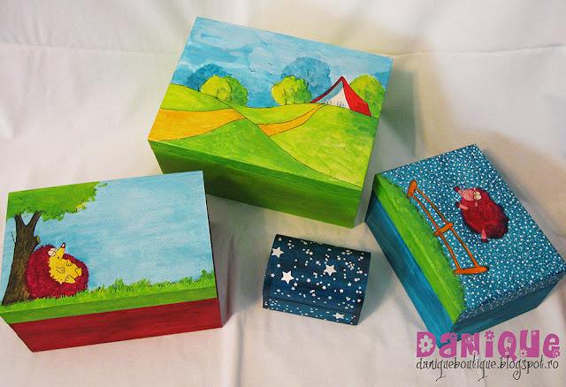 cutii pentru bijuterii pictate
