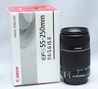 Lensa Canon EF-S 55-250mm IS2 Bekas