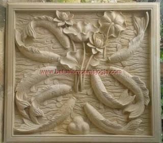 Relief batu putih fauziahstone.com