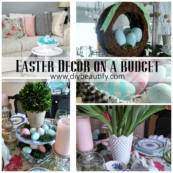 Easter Decorating on a Budget at DIY beautify