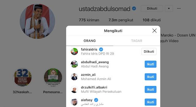 Akun Instagram Resmi Ustadz Abdul Somad Dihapus
