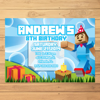 Minecraft Invitation Steve