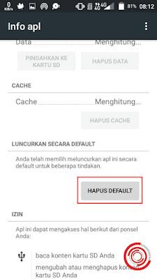 Mereset Aplikasi Default di Android