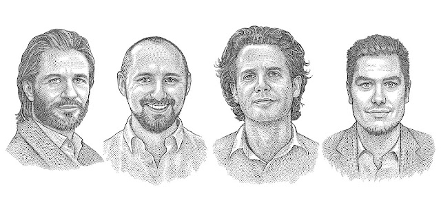 Hedcut portraits for website