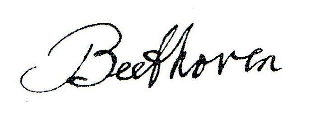 Beethoven signature