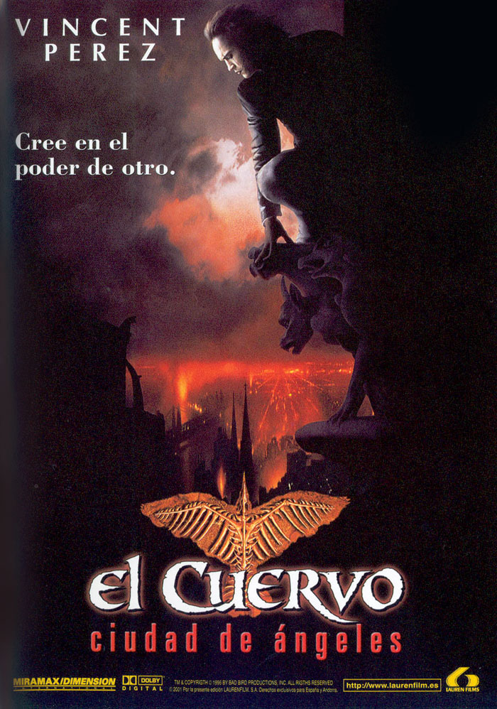 El cuervo 2. Ciudad de ángeles, el cuervo, the crow, brandon lee, alex proyas