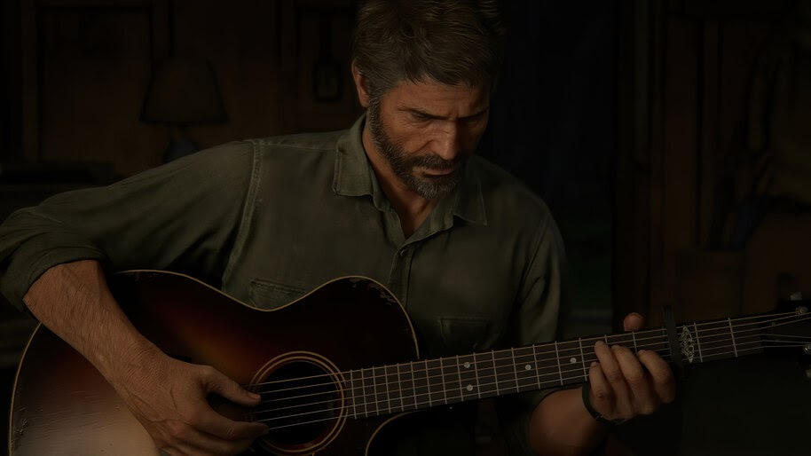 The Last of Us Part 2, Joel, Playing, Guitar, 4K, #7.1642