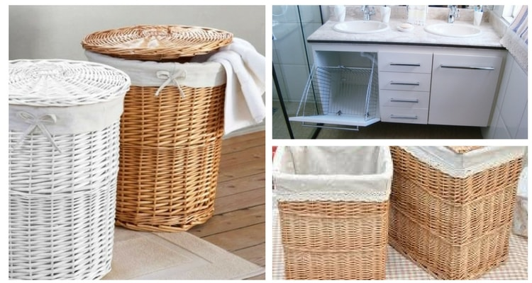 banheiro organizado cestos para roupas sujas