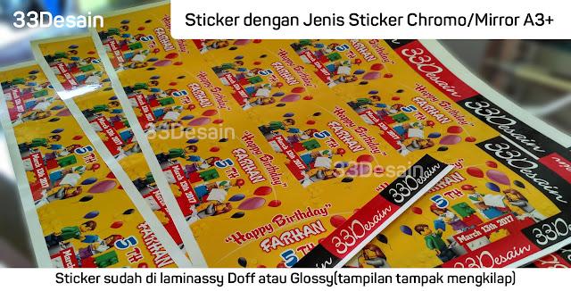 Sticker Chromo/Mirror A3+ 33Desain