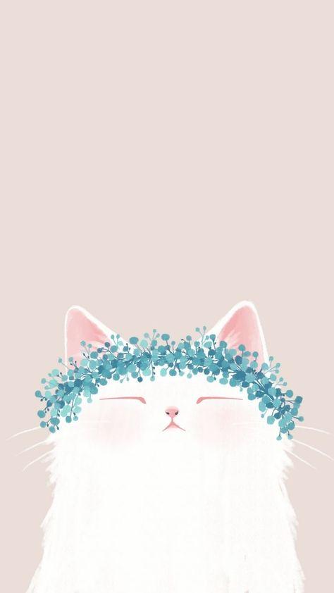 hình nền điện thoại mèo dễ thương