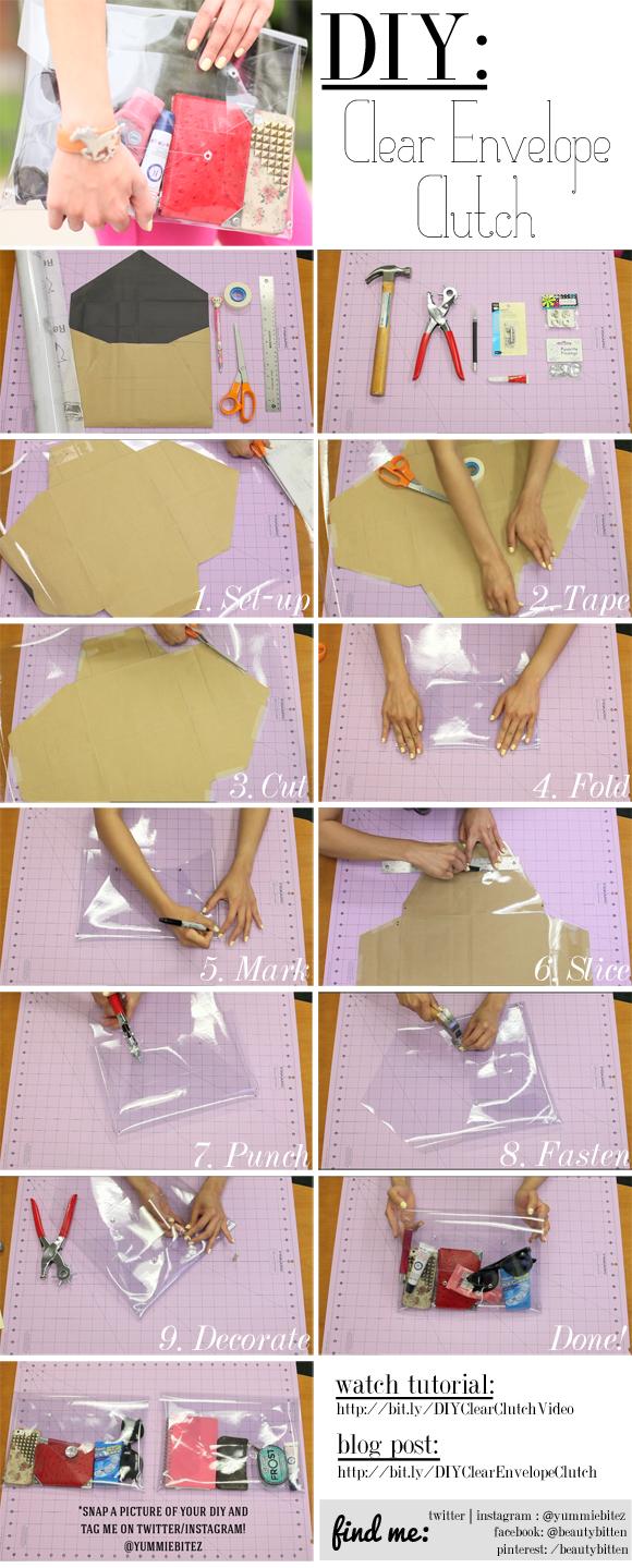 DIY: Clear Envelope Clutch | beautybitten | a personal ...