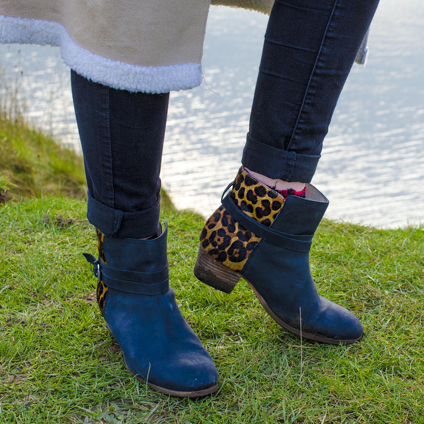 Boden Kiera leopard boots