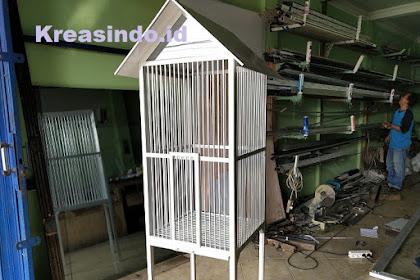 Kandang Aluminium untuk Burung Beo pesanan Bpk Tato di Pondok Kelapa Jakarta Timur