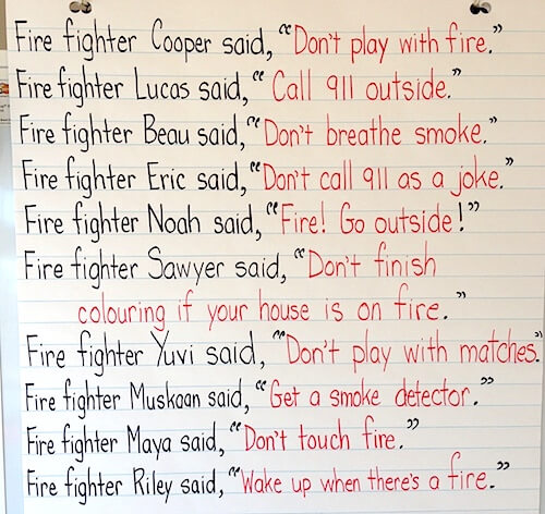 Class book. Fire Safety activities for first grade. GradeONEderful.com