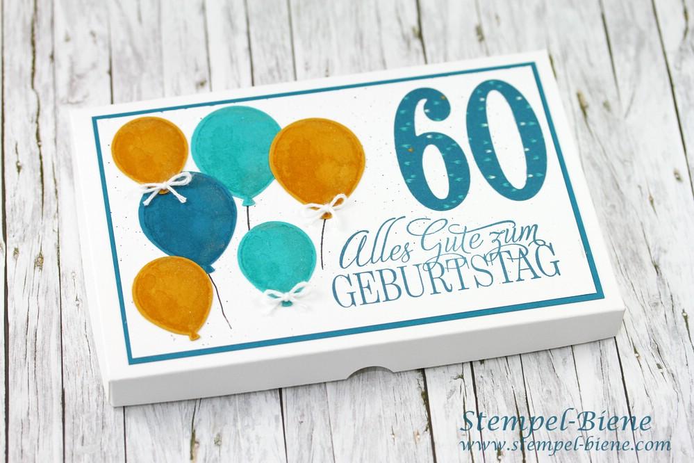 Stempel Biene Tassenkuchleinbox Zum 60 Geburtstag