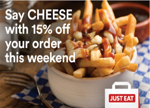 JustEat 15% Off National Cheese Day Promo Code