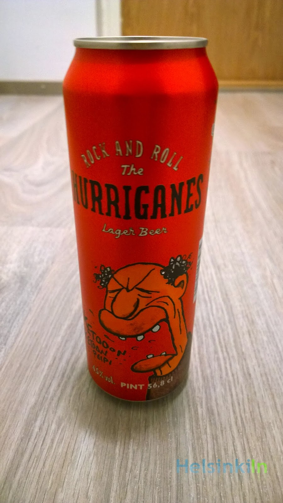 the Rock And Roll Hurriganes Lager Beer