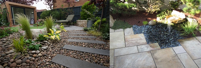 Poze amenajari gradini cu piatra ornamentala