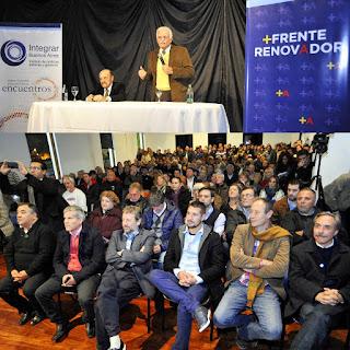 Aldo Pignanelli y Julio Barbaro con Arteaga y el FR en La Plata