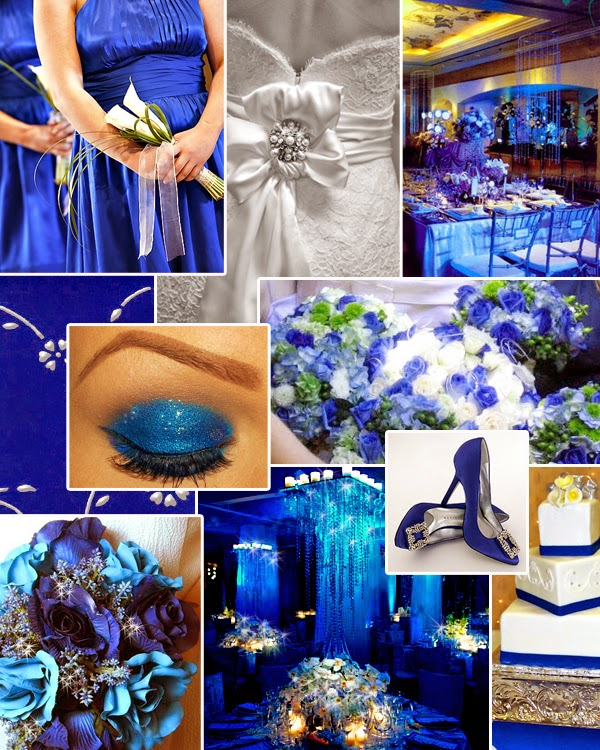 Royal Blue And Gold Wedding Decorations: Royal Blue Silver White Wedding Decorations
