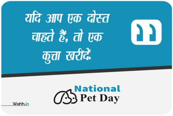 National Pet Day Wishes Posters