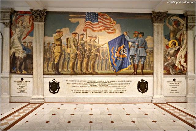 Murales en los Pasillos del Massachusetts State House