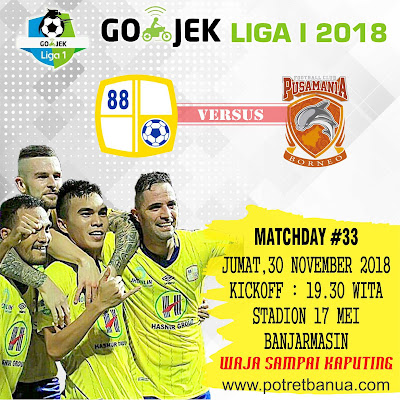 Barito Putera vs Borneo FC 30 November 2018