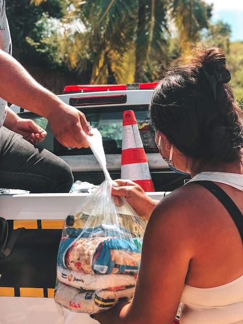 Campanha Somos Solidariedade realiza mais uma distribuição de alimentos e produtos de limpeza e higiene pessoal em Pirpirituba