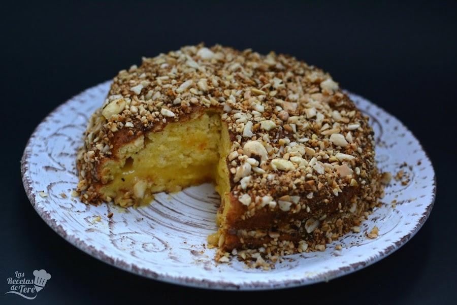 receta facil bizcocho relleno con crema a la naranja 01