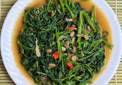 Resep Premium dan Cara Membuat Tumis Kangkung yang enak dan lezatnya seperti masakan restoran