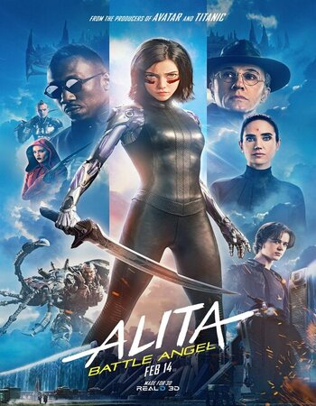 Alita Battle Angel (2019) Dual Audio Hindi ORG 720p HDRip 1.1GB ESubs Movie Download