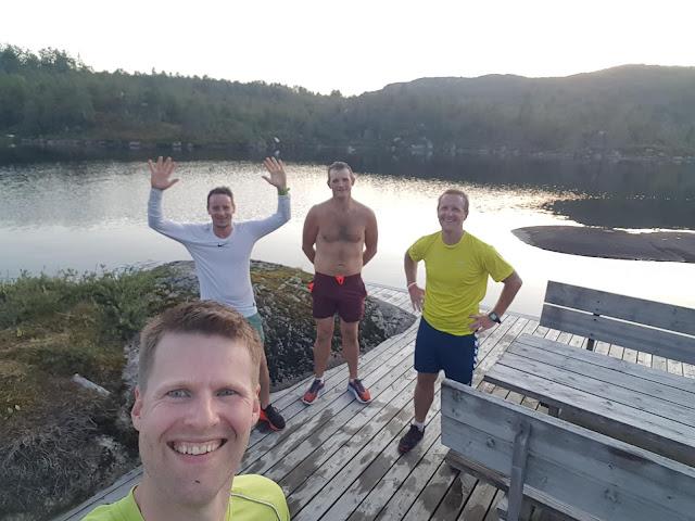 Arve Gysland, Asle Ro, Inge Seland og Tom Arild Støle løp Gumpeløpet samtidig.