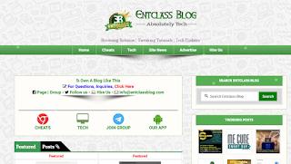 Entclass Responsive Premium Blogger Template (Updated)