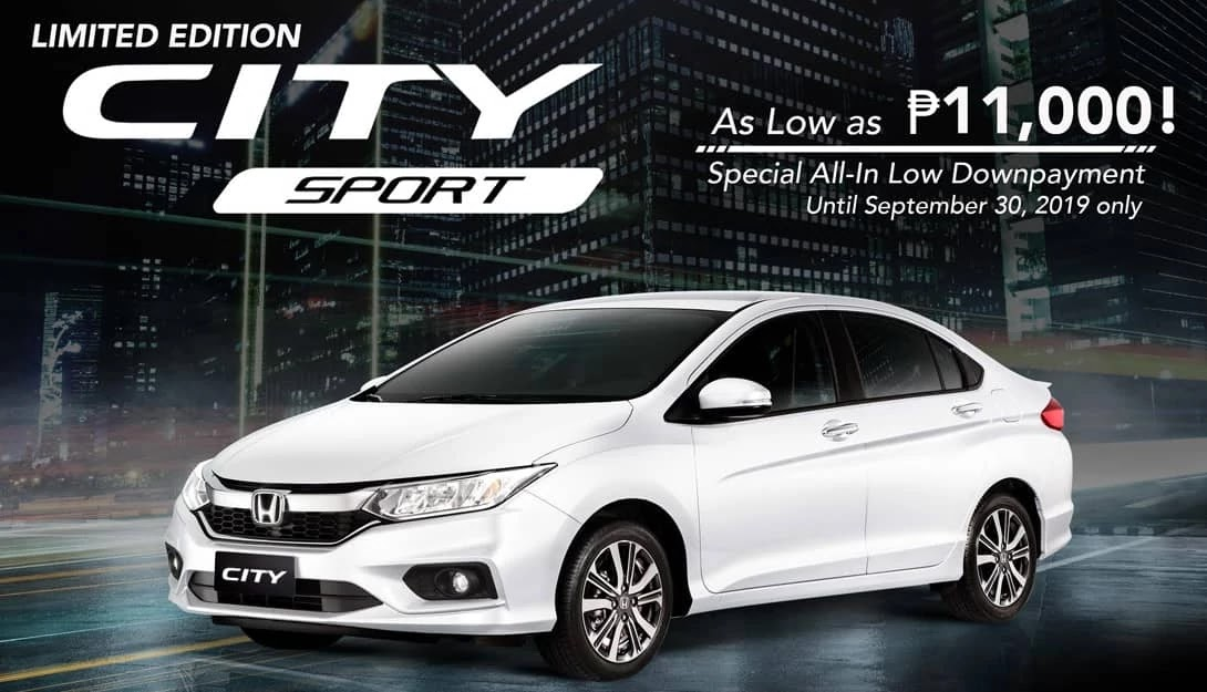 Limited Edition Honda City Sport Special Financing Program