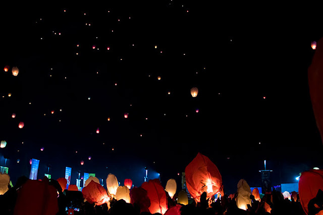 Lampion Terbang Menghiasi Langit Dieng Culture Festival 2019