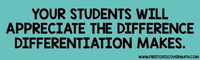 your students will appreciate the difference differentiation makes